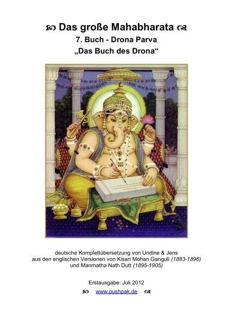 7. Buch - Drona Parva - Das Mahabharata - Pushpak