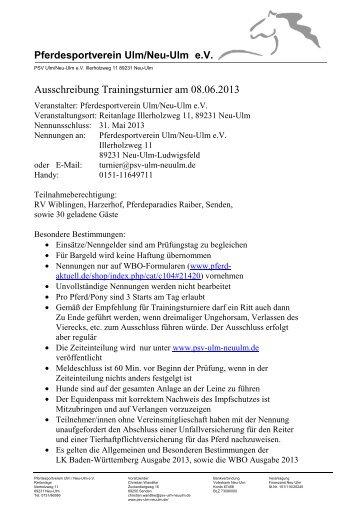 Ausschreibung Reitertag 08062013a-1 - Pferdesportverein Ulm/Neu ...