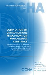 compilation of united nations resolutions on humanitarian assistance