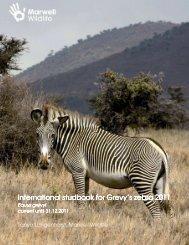 International International studbook for Grevy's zebra ... - Marwell Zoo