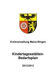 Kindertagesstätten- Bedarfsplan - Landkreis Mainz-Bingen