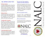 Key Attributes of the NALC - North American Lutheran Church