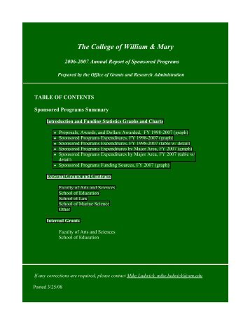 2006-2007 - College of William and Mary