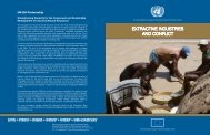 EXTRACTIVE INDUSTRIES AND CONFLICT UN-EU ... - UNEP