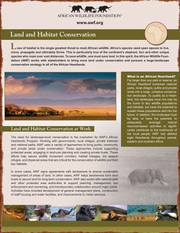 Land and Habitat Conservation - African Wildlife Foundation