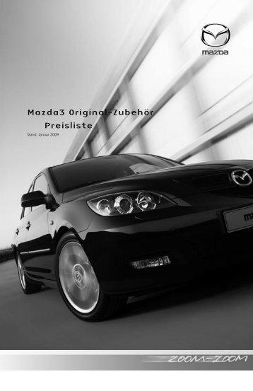 Mazda3 Original-Zubehör Preisliste