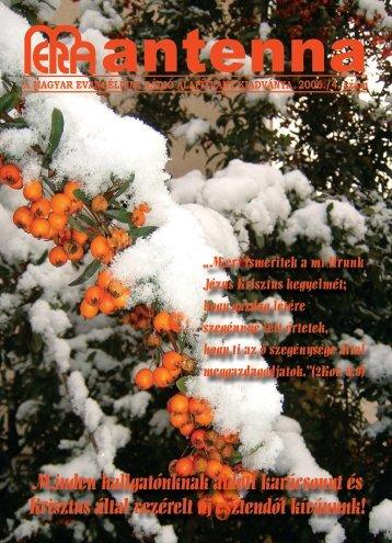 2006 5. szám - Magyar Evangéliumi Rádió