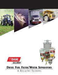 DIESEL FUEL FILTER/WATER SEPARATORS ... - Baldwin Filters