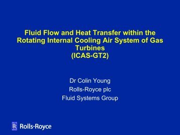 Fluid Flow and Heat Transfer within the Rotating Internal Cooling Air ...