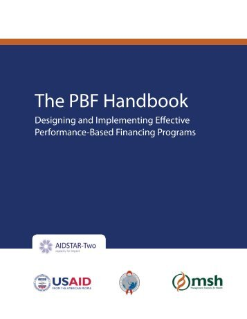The PBF Handbook - Management Sciences for Health
