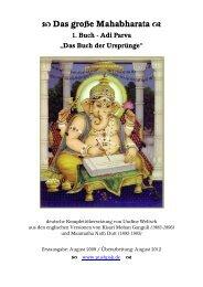 Das Buch der Ursprünge - Das Mahabharata - Pushpak