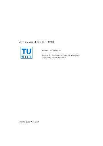 INTERNETSKRIPTUM WS 09 SS 10 - Technische Universität Wien