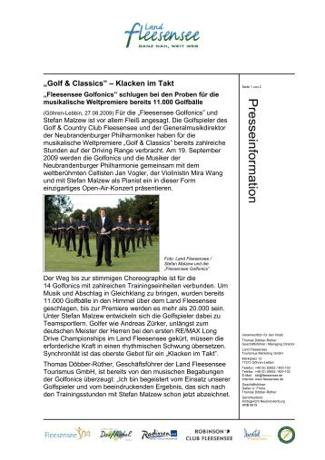 """Golf & Classics"" – Klacken im Takt"