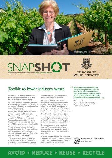 Zero Waste SA – REAP Snapshot Treasury Wines