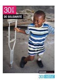 Lire le dossier de presse - Handicap International