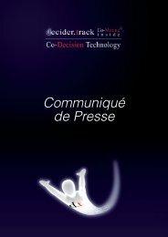 Communiqué de Presse - Co-Decision Technology