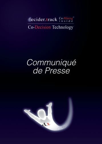 Communiqué de Presse - Co-Decision Technology