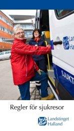 Regler för sjukresor - Region Halland
