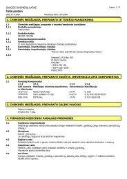 1. cheminės medžiagos, preparato ir tiekėjo ... - Thermo Scientific