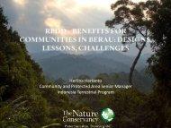 REDD+ Benefits for Communities in Berau - Conservation Gateway