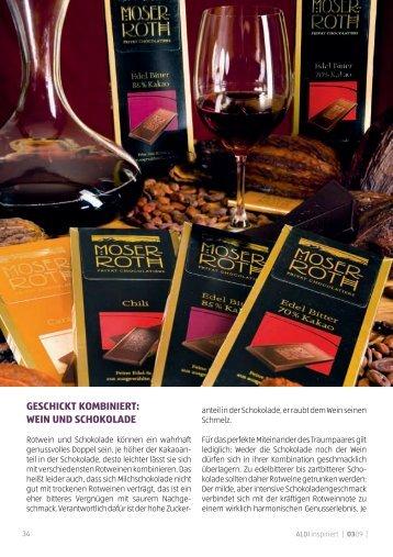Geschickt kombiniert: Wein und schokolade