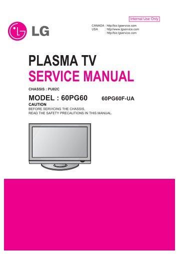 plasma tv service manual lg electronics rh yumpu com lg plasma tv owner's manual lg plasma tv 42pc5d manual