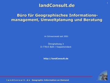 management, Umweltplanung und Beratung - landConsult.de