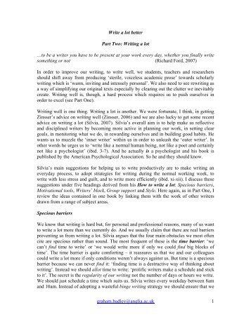 Write a lot better - My.Anglia Homepage - Anglia Ruskin University