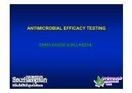 Antimicrobial Efficacy Testing - Copper Development Association