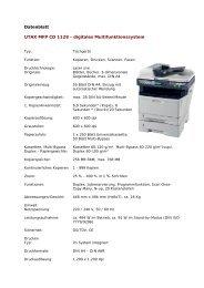 Datenblatt UTAX MFP CD 1128 - digitales Multifunktionssystem