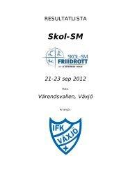 Resultat Skol-SM 2012