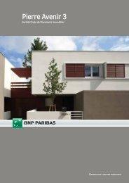 Plaquette commerciale - Pierre Avenir 3 - BNP Paribas REIM