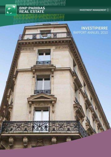 Rapport annuel - Investipierre - 2010 - BNP Paribas REIM
