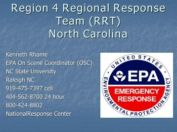 Hexion Methanol Spill - U.S. National Response Team (NRT)