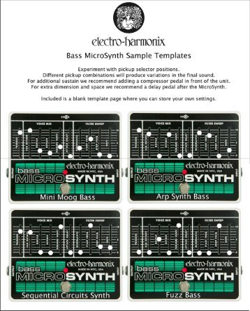 Bass Micro Synthesizer templates