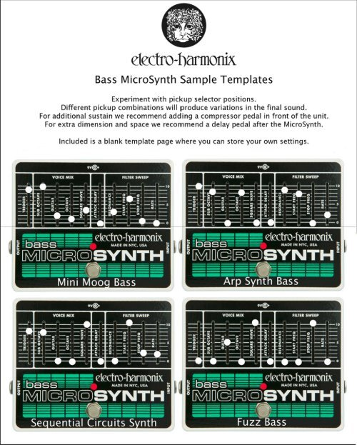 bass micro synthesizer templates. Black Bedroom Furniture Sets. Home Design Ideas