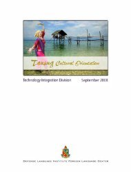 Tausug Cultural Orientation - Philippine Culture