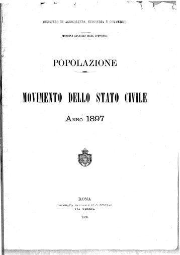 popolazione - movimento dello stato civile - Istat