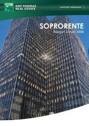 Rapport annuel - Soprorente - 2008 - BNP Paribas REIM