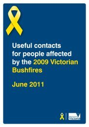 Useful Contacts Guide - Shire of Yarra Ranges