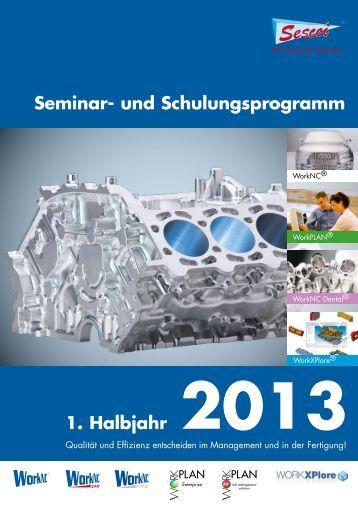 Seminar- und Schulungsprogramm 1. Halbjahr 2013 - Sescoi