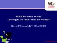 """Rapid Response Teams: Looking in the """"Box"""" from the Outside"""