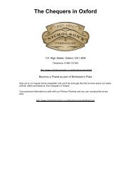 View our Wine and Drinks Menu - Nicholson's Pubs