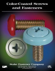 Color-Coated Screws and Fasteners - Electronic Fasteners Inc