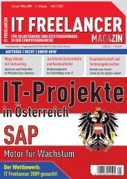 IT Freelancer Magazin Nr. 1/2009