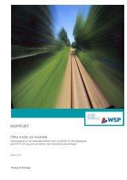 Olika nivåer på resandet - WSP Group