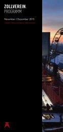 Programmheft November – Dezember 2013 - Stiftung Zollverein