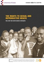 the rights to sexual and reproductive health - EULib.com