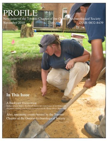 PROFILE - OAS Toronto Chapter - Ontario Archaeological Society
