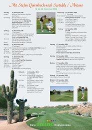 Mit Stefan Quirmbach nach Scotsdale / Arizona